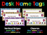Desk Name Tags Editable (stripes and chevron)
