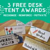 Free Desk Tent Awards - Classroom Management Positive Reinforcement