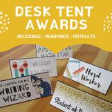 Desk Tent Awards - Classroom Management Positive Reinforcement