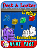 Desk and Locker Name Tags Backpacks