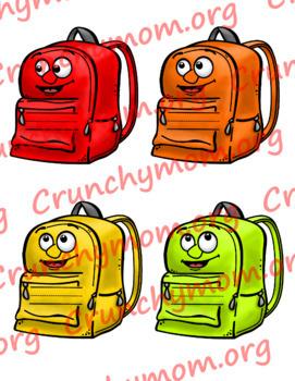 Desk and Locker Name Tags Backpacks