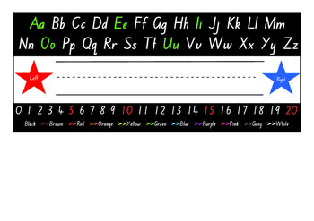 Desk chart - Foundation font