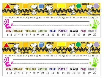 Desk name plate Snoopy 2