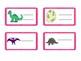 Desk name plates - Dinosaur themed