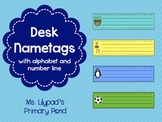 Desk Name Plates / Desk Name Tags with Alphabet and Number Lines