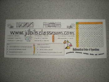 Desk or Folder Nametags for 3rd-5th graders