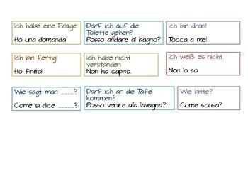 Desk strips German Italian
