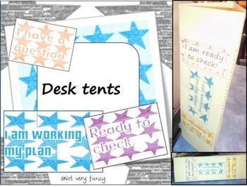 Desk tents for Classroom Management