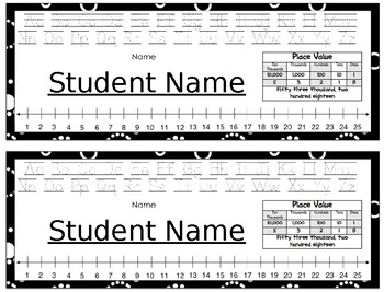Deskplates/ Name Tags- Black and White Circle Dots