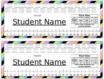 Deskplates/ Name Tags- Colorful Stripes