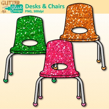 Classroom Desks and Chairs Clip Art {Classroom Furniture for Teachers}