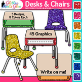 Classroom Desks and Chairs Clip Art {Classroom Furniture for Teachers}