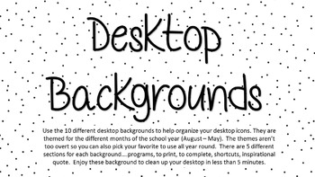 Desktop Background Organization