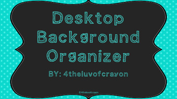 Desktop Background Organizer