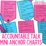Beginning of School | Desktop Anchor Charts: Accountable Talk Sentence Starters
