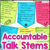 Desktop Banners: Accountable Talk Stems
