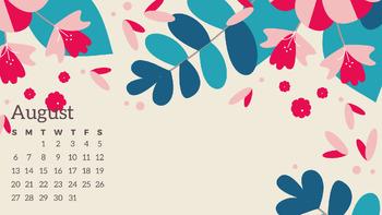 Desktop Calendars- Wallpaper- August 2018-July 2019