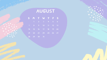 August 2021 Calendar Wallpaper Desktop Calendars  Wallpaper  August 2020 August 2021 | TpT