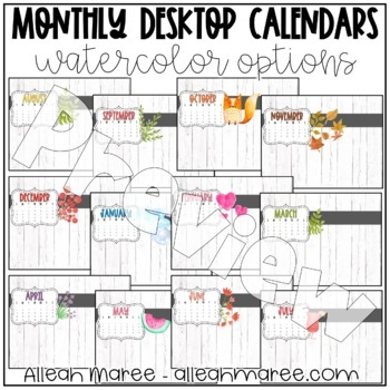 Desktop Calendars for the YEAR! {May 2017 -  May 2018}