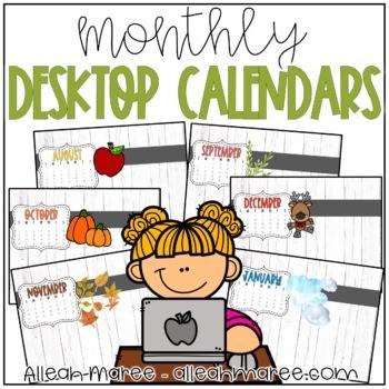 Desktop Calendars for the YEAR! {July 2016 - June 2017}