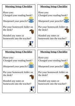 Desktop Checklist Morning Routine