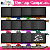 Desktop Computer Clip Art: Classroom Technology Graphics {Glitter Meets Glue}