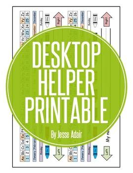 Desktop Helper Printable FREEBIE