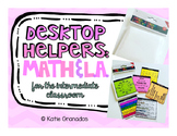 Desktop Helpers | Math & L.A. Skills | Color and B&W