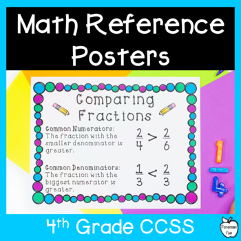 Desktop Helpers ~ Math Reference Cards & Posters ~ 4th Grade