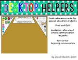 Desktop Helpers {Name tag and Reference Cards for Sped Cla