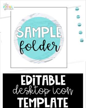 Desktop Icon Template for Mac - Editable