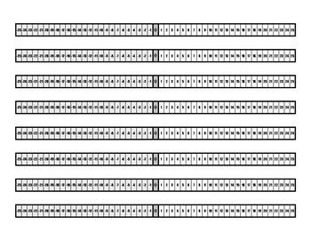 Desktop Integer Number Line - 8 Per Page