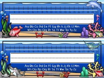 Desktop Name Plates- Ocean Theme