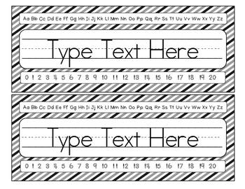 Desktop Name Tag: Black Stripe