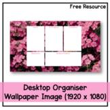 Desktop Organiser Wallpaper 1 - Pink Flowers