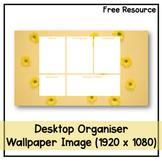 Desktop Organiser Wallpaper 4 - Yellow Flowers