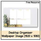 Desktop Organiser Wallpaper 5 - Pineapple