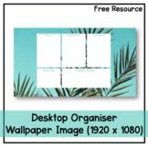 Desktop Organiser Wallpaper 8 - Palm Leaves