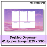 Desktop Organiser Wallpaper 10 - Purple Sky