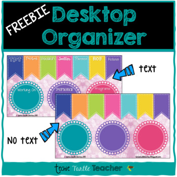 Desktop Organizer - Bright, Social Media