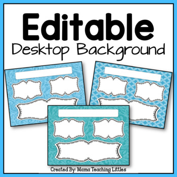 Desktop Organizer Editable