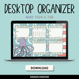 Desktop Organizer - May 2021 - Wallpaper Organizer with Calendar