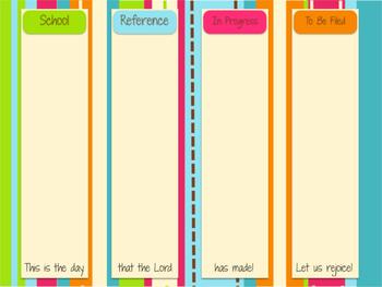 Desktop Organizer PDF - Dots on Turquoise