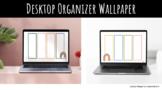 Desktop Organizer Wallpaper - Rainbow