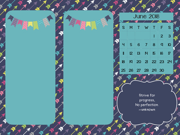 Desktop Organizer with Monthly Calendar