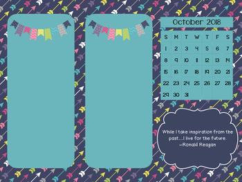 Desktop Organizer with Monthly Calendar
