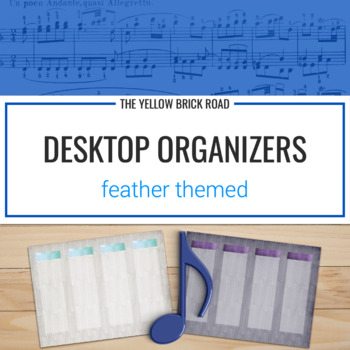 Desktop Organizers: feather themed