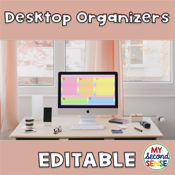 Desktop Organizers - Editable