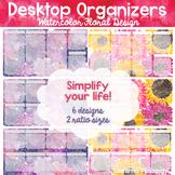 Desktop Organizers: Editable Watercolor Design