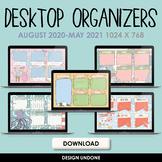 Desktop Organizers Monthly/Seasonal Bundle - August 2020 - May 2021 - Calendars